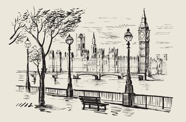 vector hand-drawn London