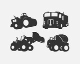 Under Construction Vehicles Vector Shapes