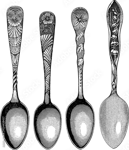 Vintage image spoon - 124438437
