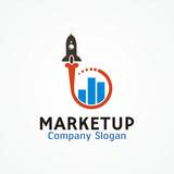Success business arrow boost up vector logo icon