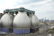 Digester eggs of the Newtown Creek Wastewater Treatment Plant