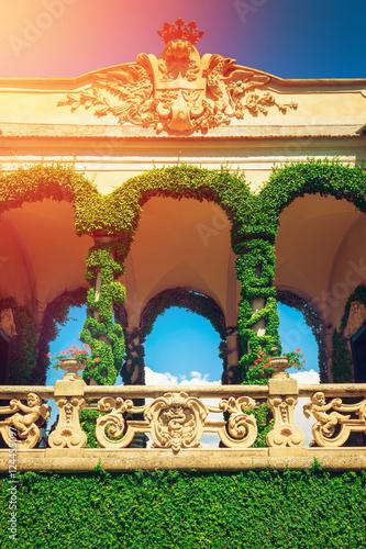Zdjęcia Beautiful loggia at villa Balbianello, Como lake, Italy