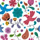 Floral Doodles Pattern / Seamless colorful floral doodles pattern.