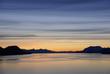 Mountains and sea - sunset & alpineglow