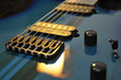 Electric Guitar Strings Up Close