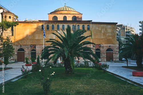Poster Byzantine orthodox church of God's holy Sophia at Thessaloniki,