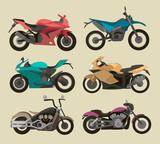 Fototapety Motorcycle Icons set