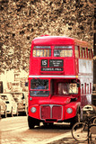 Old Red Double Decker Bus in London, UK