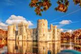 Historic Bodiam Castle in East Sussex, England