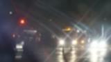 Night road lights. Defocused night traffic lights-Bangkok