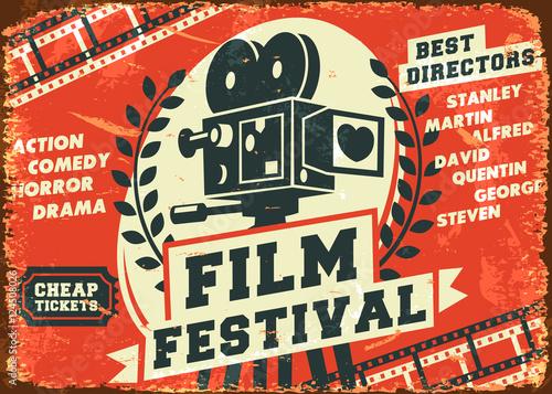 Grunge retro film festival