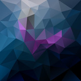 vector abstract irregular polygon background with a triangular pattern in dark blue, purple and violet colors