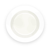 white plate on white background with shadow