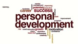 Personal development animated word cloud