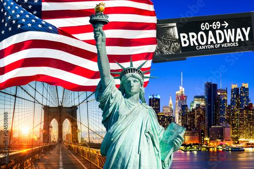 Foto op Plexiglas New York TAXI New York City in den Vereinigten Staaten von Amerika