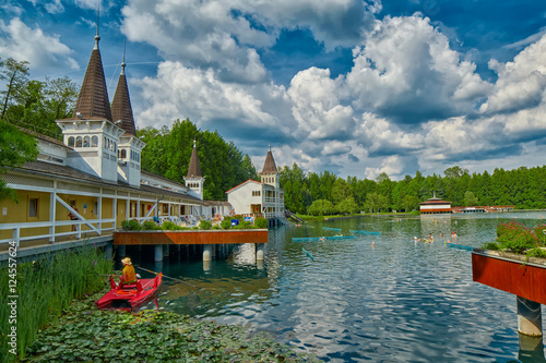 Heviz Thermal Lake with Hot Water in Hungary Poster