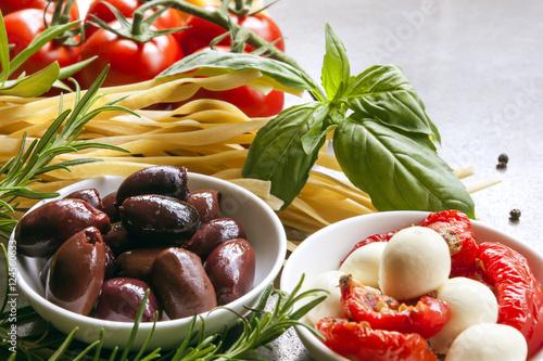 Stampa su Tela Italian Food