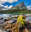 Pharaoh Peak dominating the lake view
