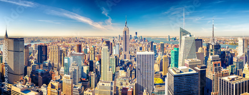 Foto op Canvas New York New York City Manhattan aerial view