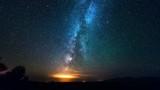Milky Way Galaxy over desrt at Night. 4K TimeLapse - September 2016, Almaty and Astana, Kazakhstan