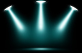Stage spotlight blue background, Stage design spotlight blue.