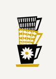 Retro Coffee Cups - 124589088