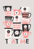 Retro Coffee Cups - 124590246