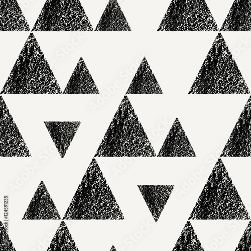 Triangles Seamless Pattern - 124591235