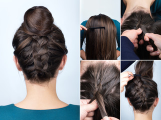 hairstyle braid bun tutorial © alter_photo