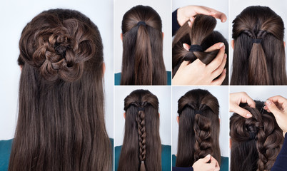 hairstyle braided rose tutorial