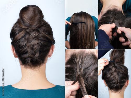 hairstyle braid bun tutorial © alter_photo