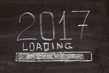 loading of 2017 drawing on the board