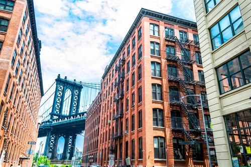 Visiting the Manhattan bridge in Brooklyn Poster