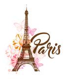 Decorative background with Paris