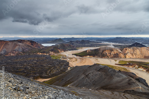 Papiers peints Cappuccino Landmannalaugar. Amazing multicoloured mountains near Brennisteinsalda at the start of the Laugavegur hike in the southern highlands of Iceland