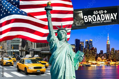 Foto op Plexiglas New York TAXI New York City Collage