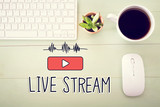 Live Stream concept with workstation - 124668034