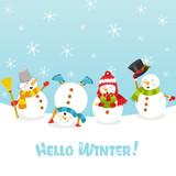 Fototapety Hello Winter Card