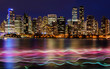 Vancouver, Canada, October 12 2016. Night lights on downtown Van