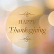 Happy thanksgiving on blur bokeh background