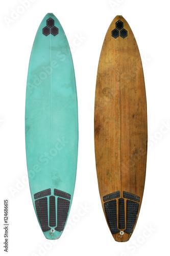 Fototapeta Vintage surfboard isolated on white - Retro styles