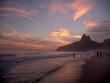 Quadro Ipanema Beach at Sunset in Rio de Janeiro