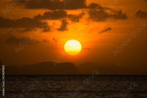 In de dag Ochtendgloren sunset sky
