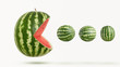 funny pacman watermelon - 124702095