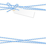 Background with bakers twine bow and ribbons - 124705259