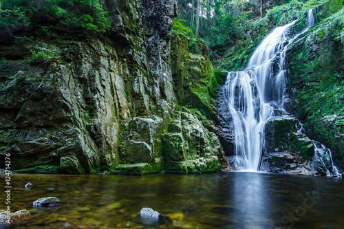 Kamienczyk waterfall, the highest waterfall in polish part of Karkonosze Moutain, near Szklarska Poreba.