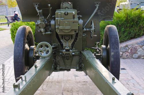 Poster Second world war cannon details in a park. Kremenchug, Ukraine