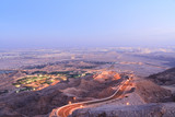 Beautiful Morning view of Jebel Hafeet in Al ain, Abu Dhabi.