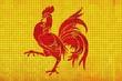 Mosaic Flag of Wallonia,  Walloon Flag,  Flag region of Belgium,   Abstract grunge mosaic vector