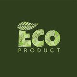 eco friendly natural label organic product sticker logo